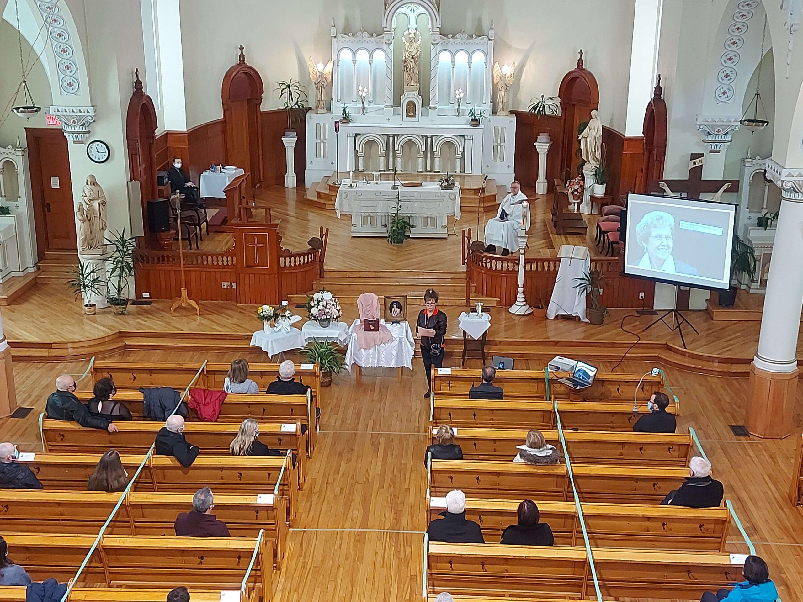 funérailles Racine, paroisse Sainte-Famille de Valcourt