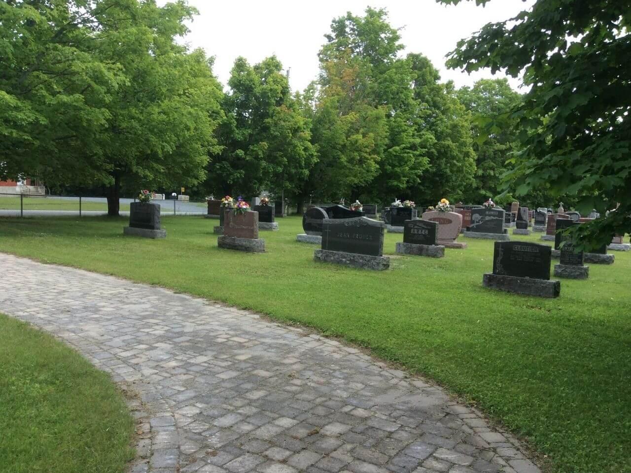 cimetière Maricourt, paroisse Sainte-Famille