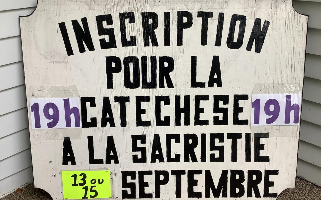 Inscription aux catéchèses